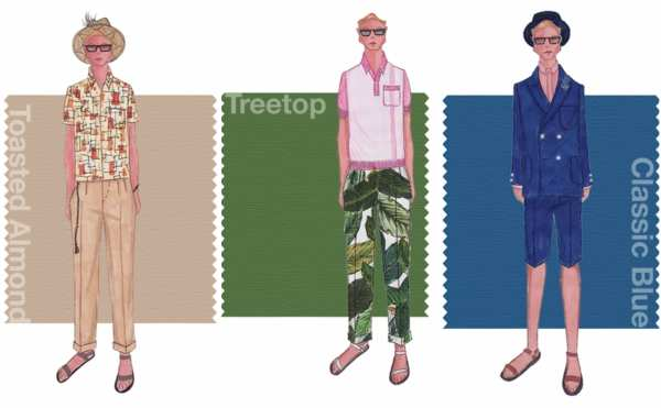 mens spring colour grid