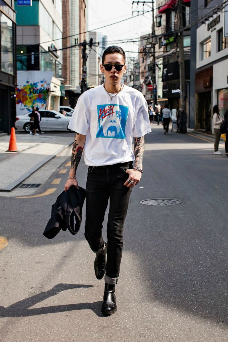 mens-street-style-black-jeans-white-printed-jeans