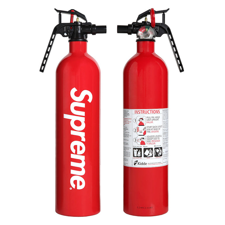 mens street style supreme fire extinguisher