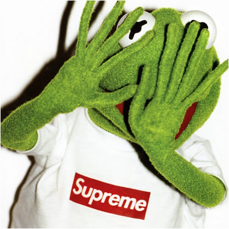 mens street style supreme kermit the frog