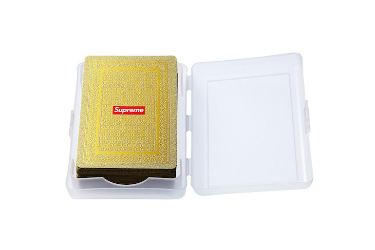 mens street style supreme playing cards