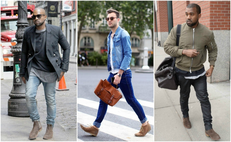mens suede boot looks