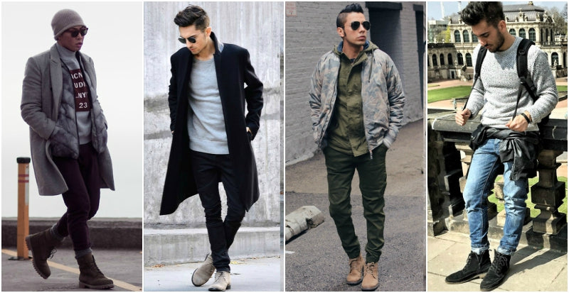 mens suede shoe street style