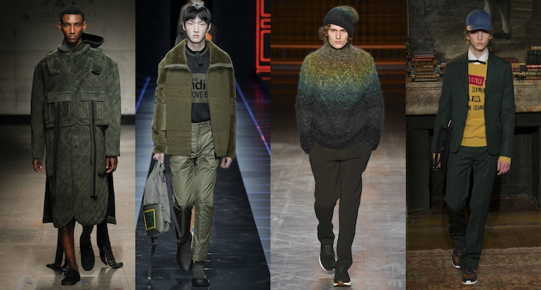 mens trends aw17 moss green