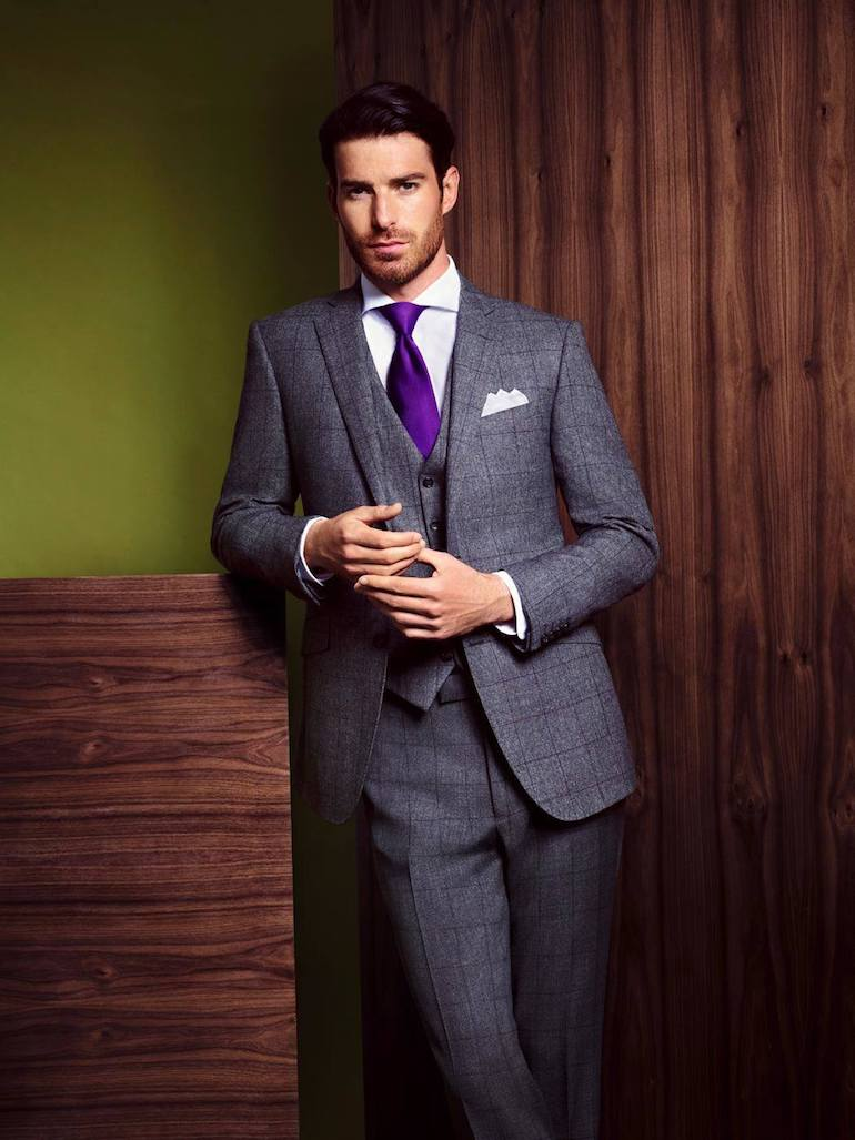 mens wedding suit grey