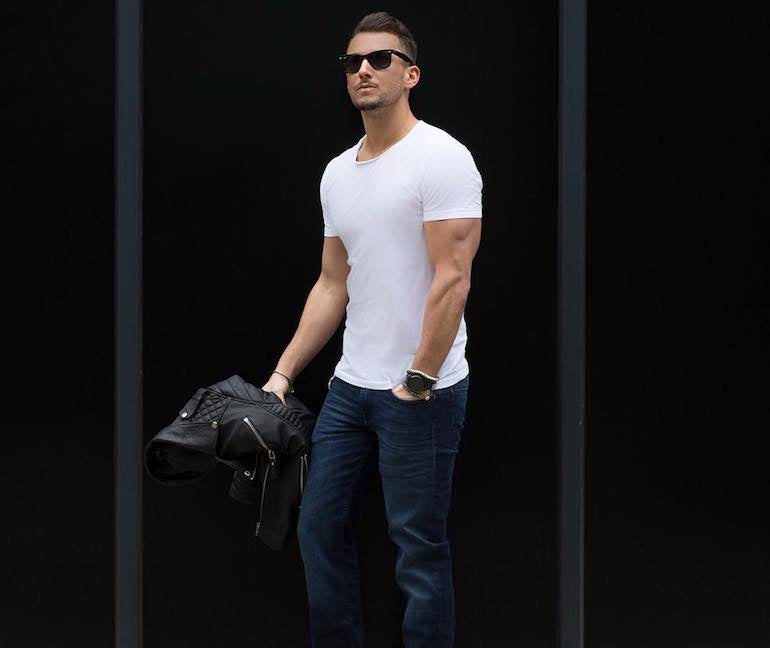 mens-white-t-shirt-style-fashion-leather-trousers
