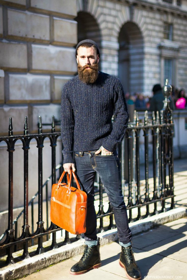 mens-wool-navy-jumper-jeans-boots-street-style