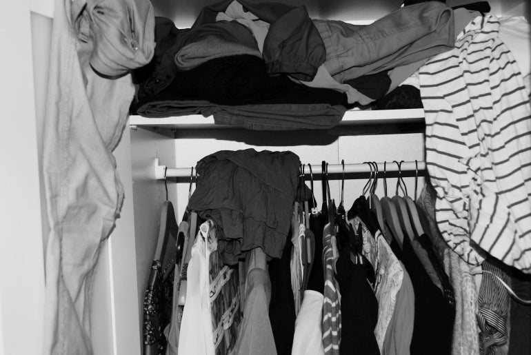 messy wardrobe male