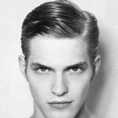 mens modernised side part blond hair