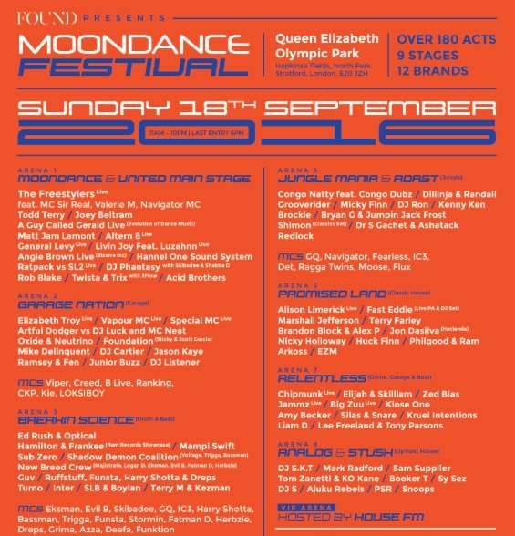 moondance qe park festival techno tickets competition free line up