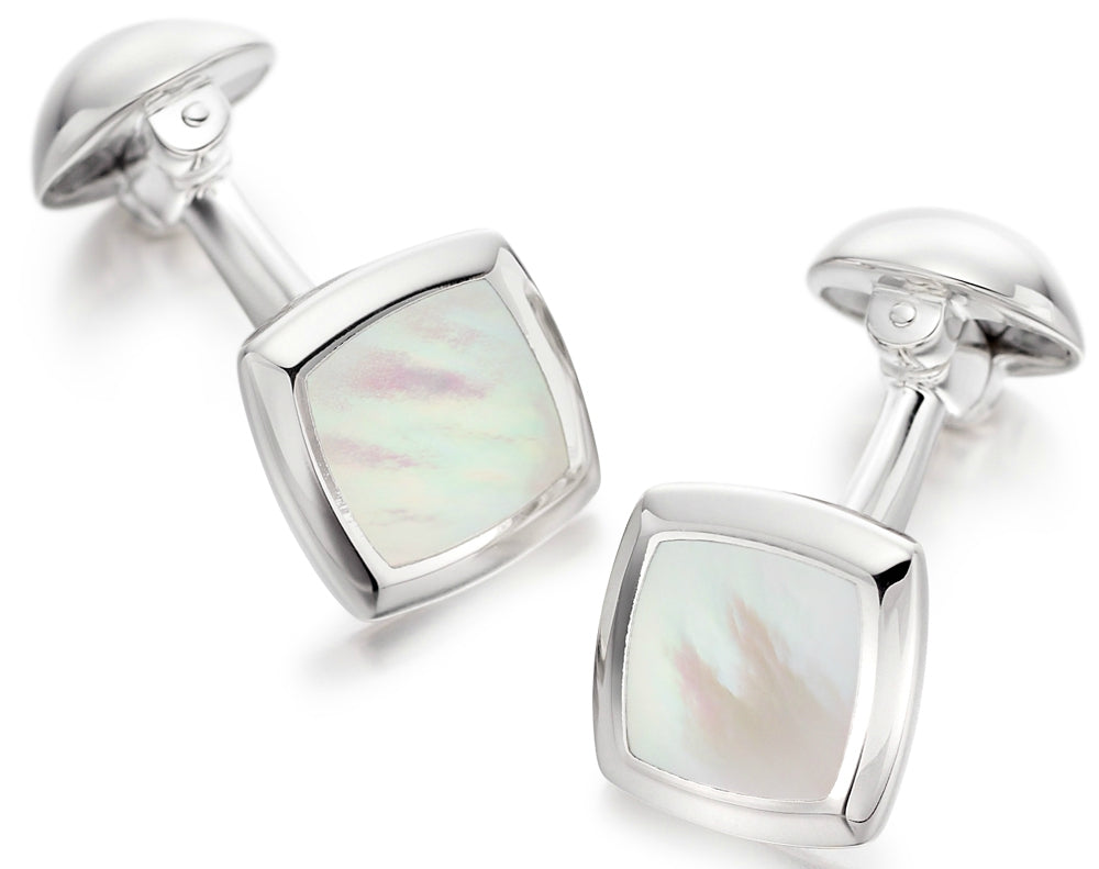 mother of pearl cufflinks for men