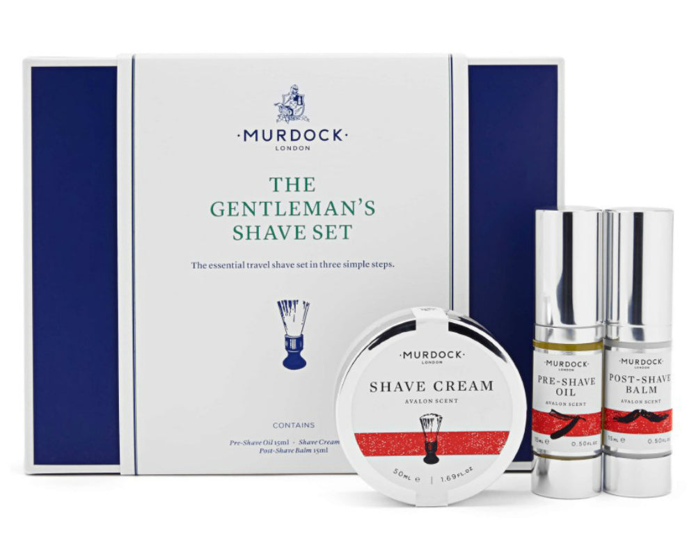 murdock shave set mens beard scrub