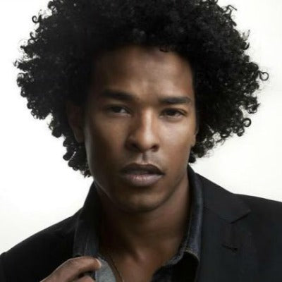 natural afro hair for men look