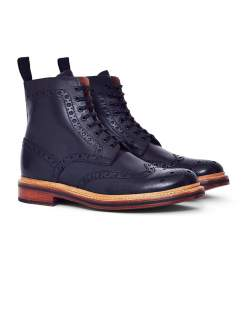 navy grenson boots for men