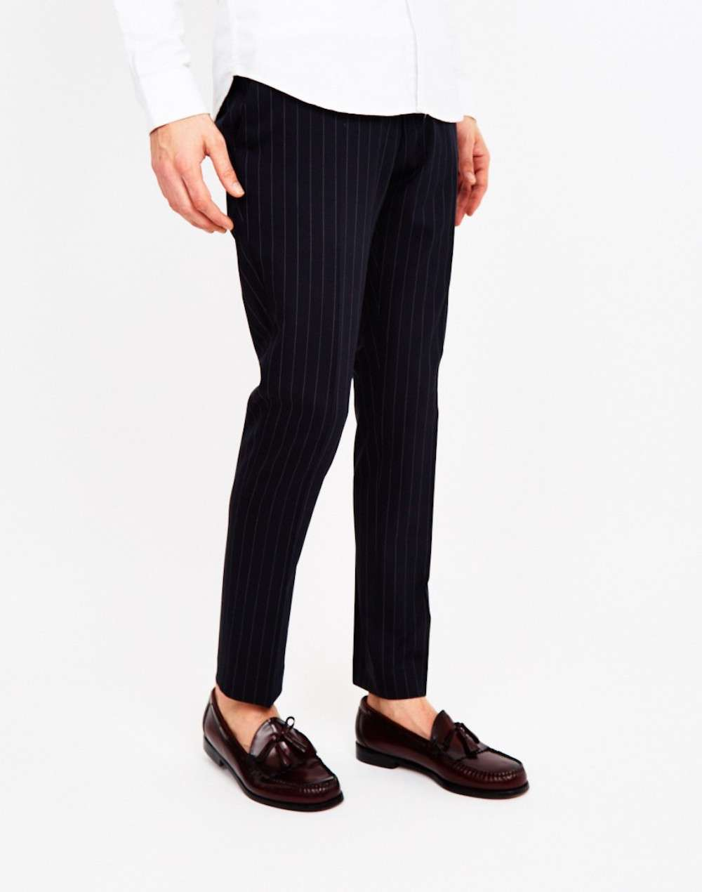 selected pinstripe trousers men