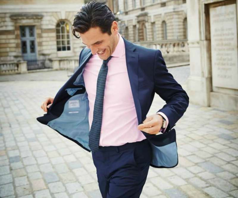 69693a11a79 ... navy suit pink shirt men look