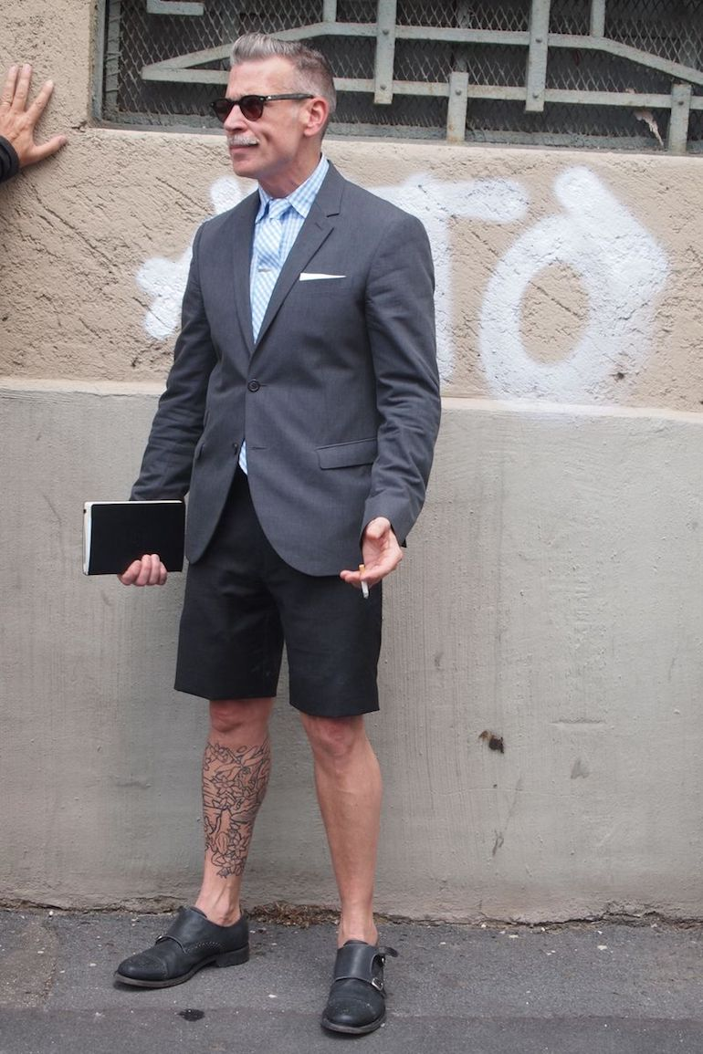 nick wooster shorts and blazer