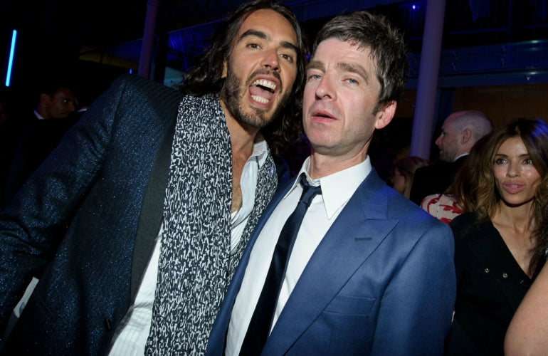 noel gallagher blue suit russell brand