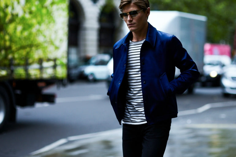 23ed8c25281 ... oliver cheshire navy ouvershirt striped breton t-shirt and black jeans  mens street style