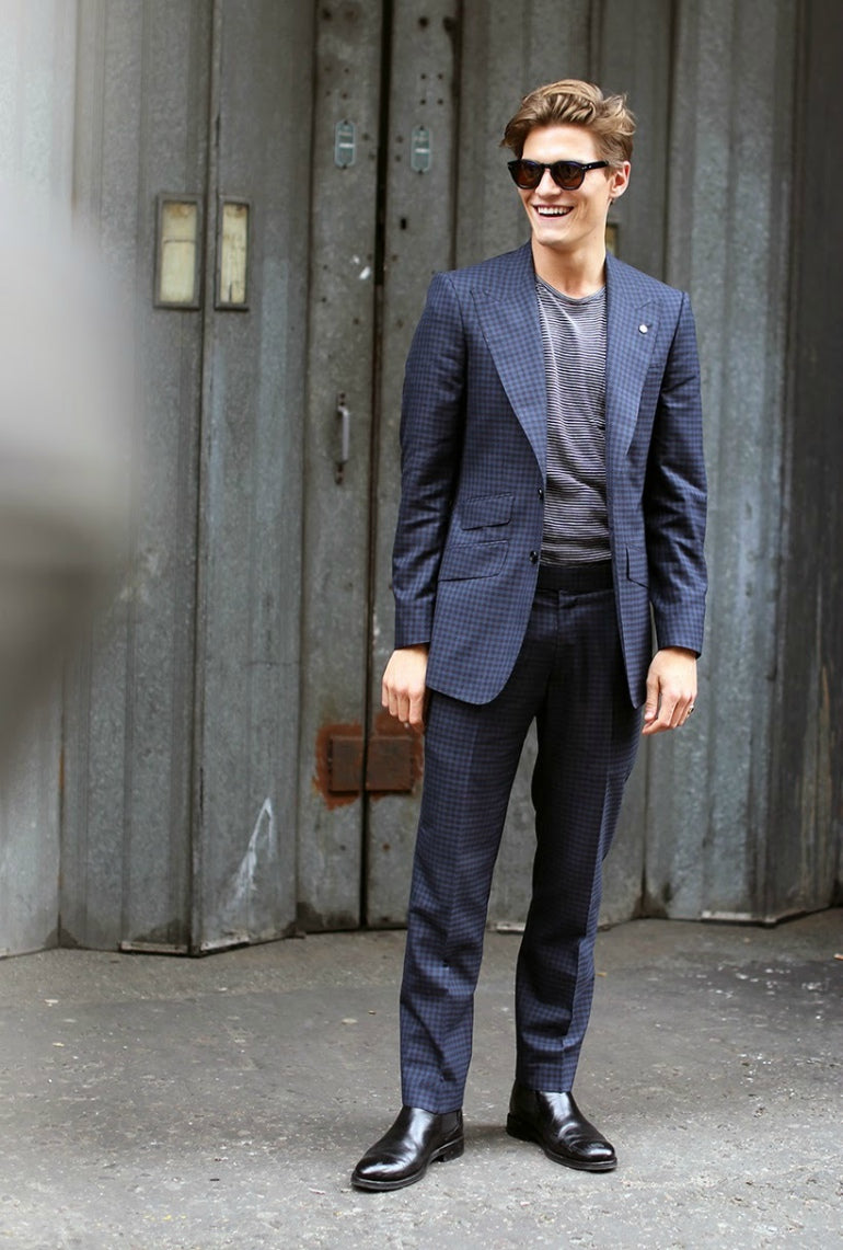 oliver cheshire navy suit mens street style