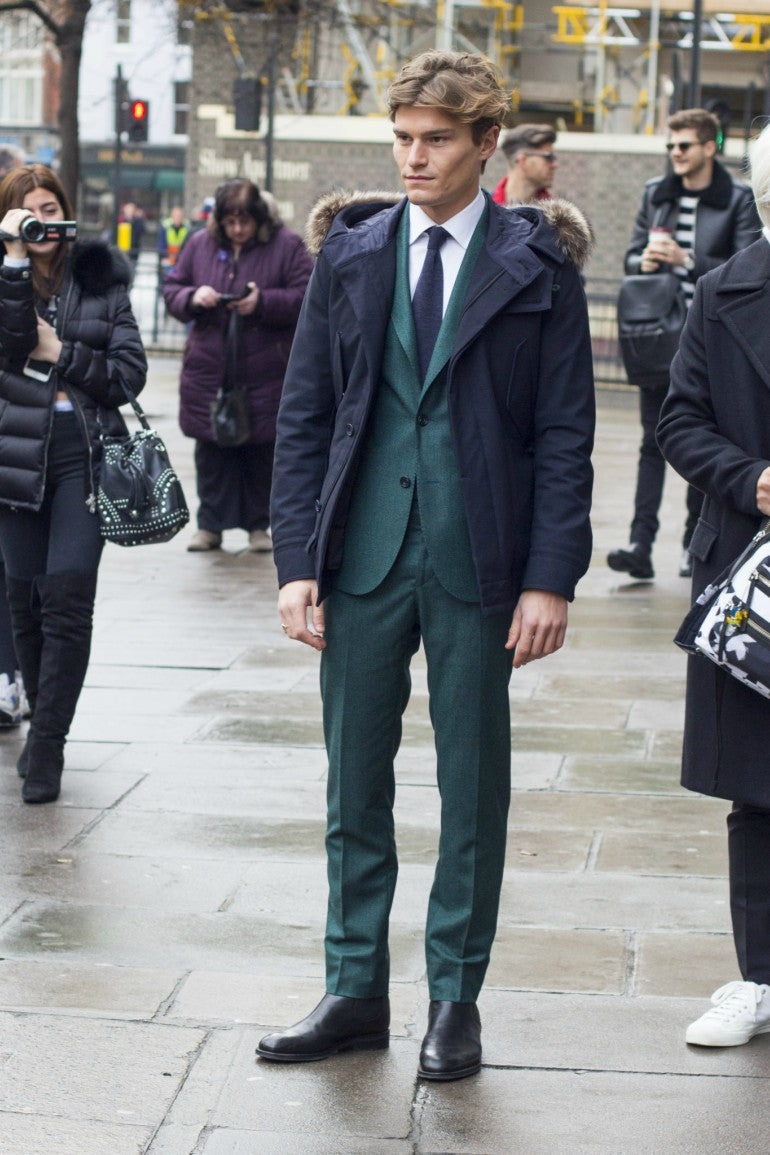 oliver-cheshire-parka-green-suit-tie-winter