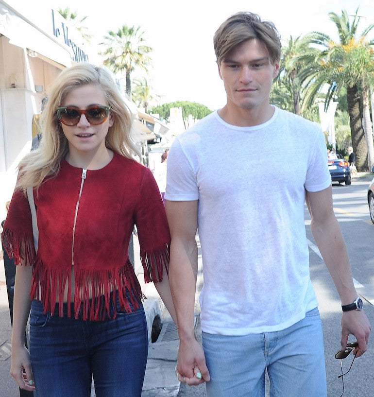 Oliver cheshire and Pixie Lott in Cannes
