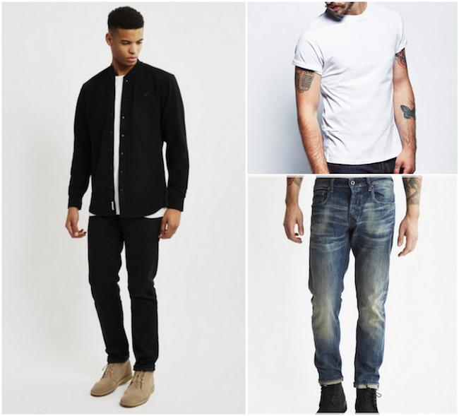 Grandad collar shirt casual outfit