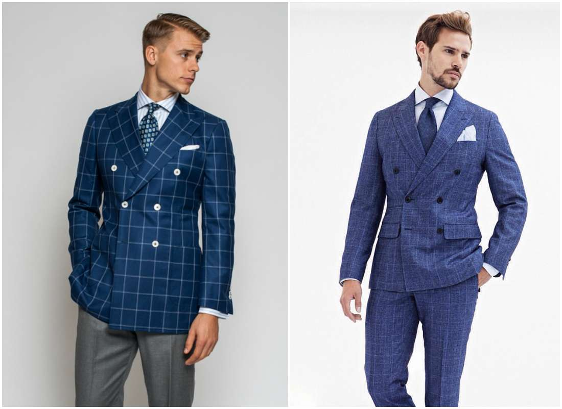 outfit grid double breasted suit