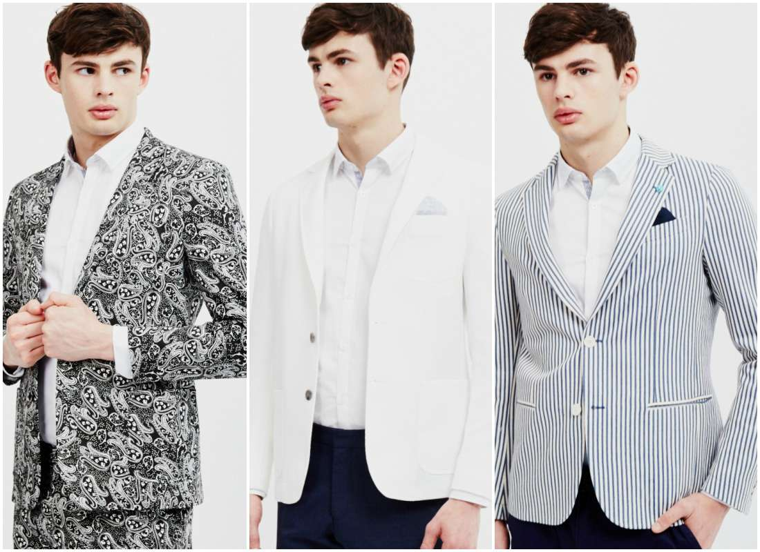 outfit grid men patterned suits