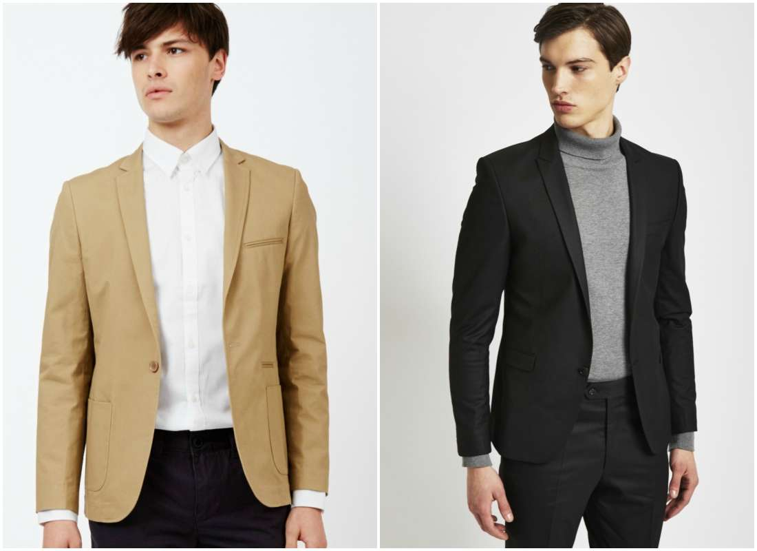 outfit grid one button suit