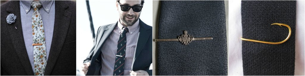 outfit grid patterned tie solid tie tie clips