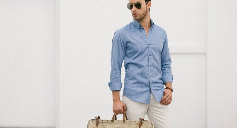 oxford shirt street style mens