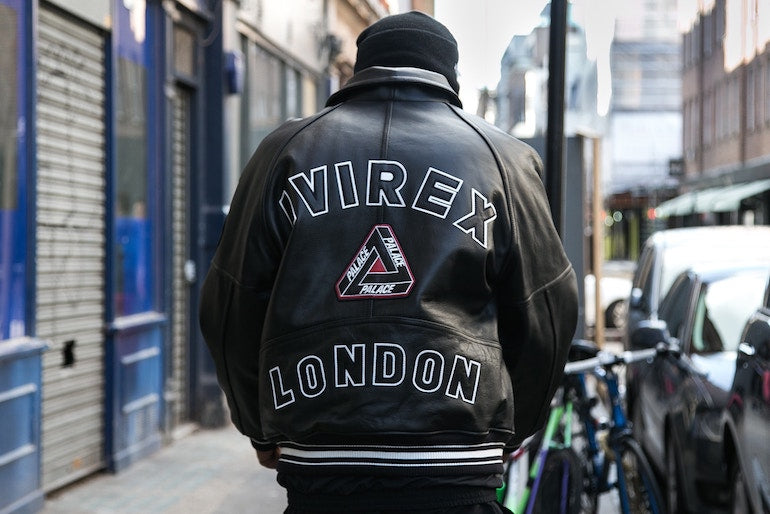 palace skateboards leather jacket