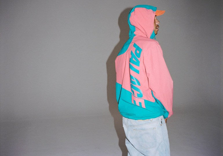 palace skateboards pink and blue jacket