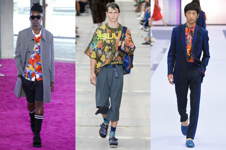 paris fashion week mens ss18 trends exotic