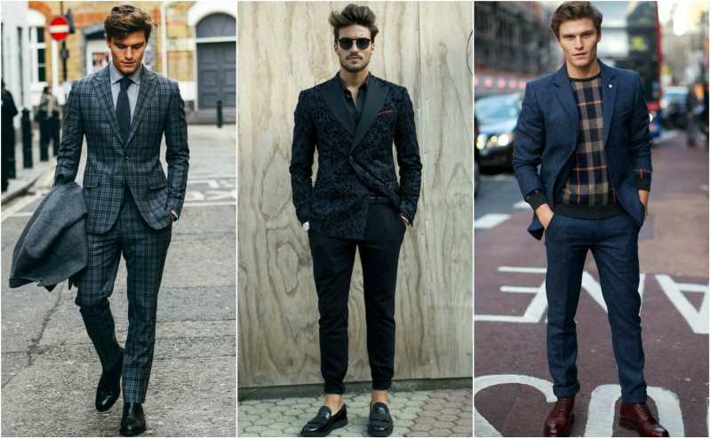 patterened suit street style