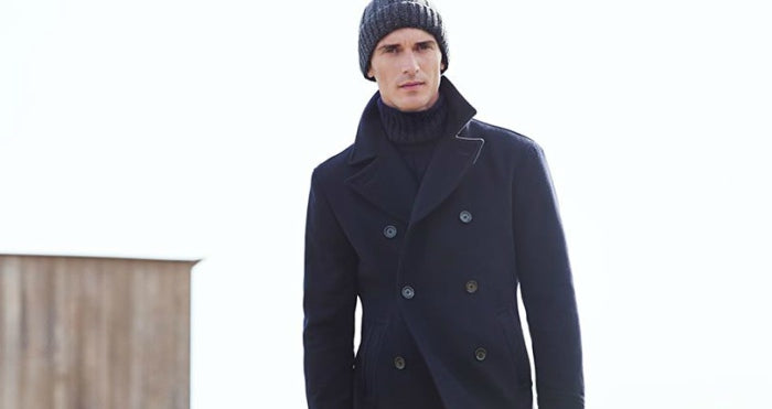 pea coat look mens street style