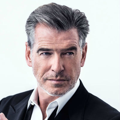 pierce brosnan grey hair for men