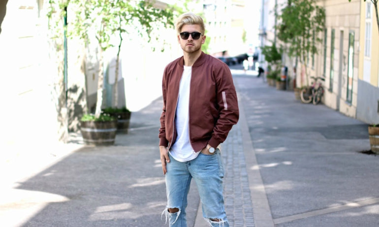 pink bomber jacket for men how to wear pink for men