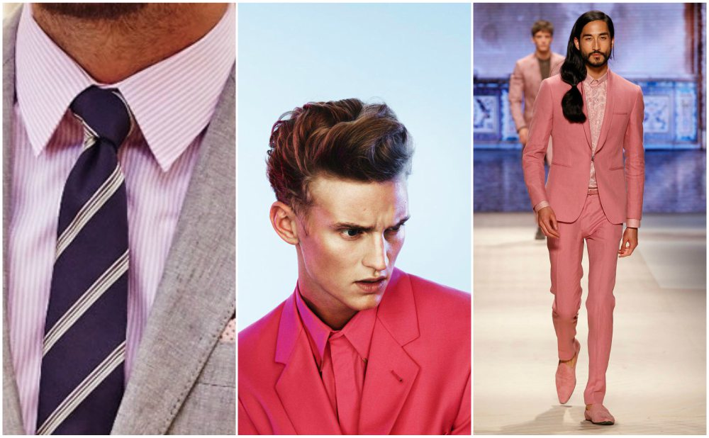pink shirt jacket men