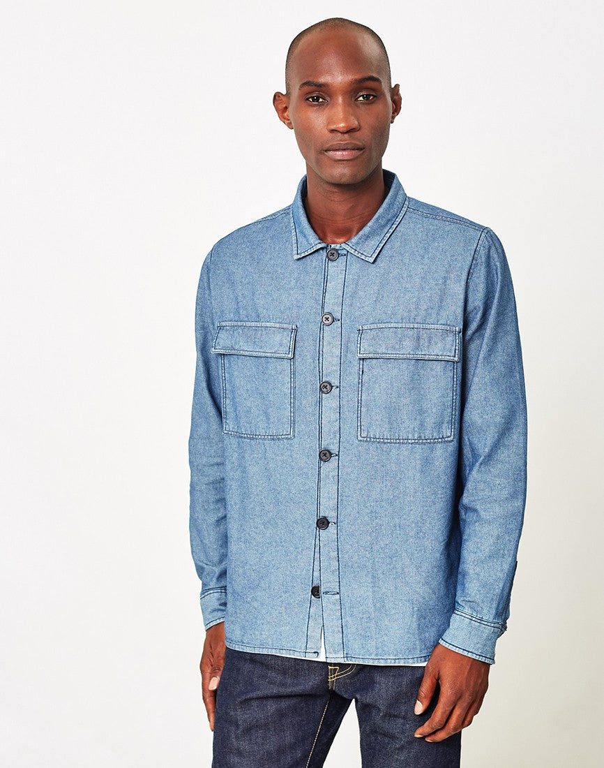 the idle man denim shirt