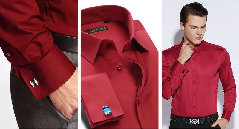 red french cuff dress shirt