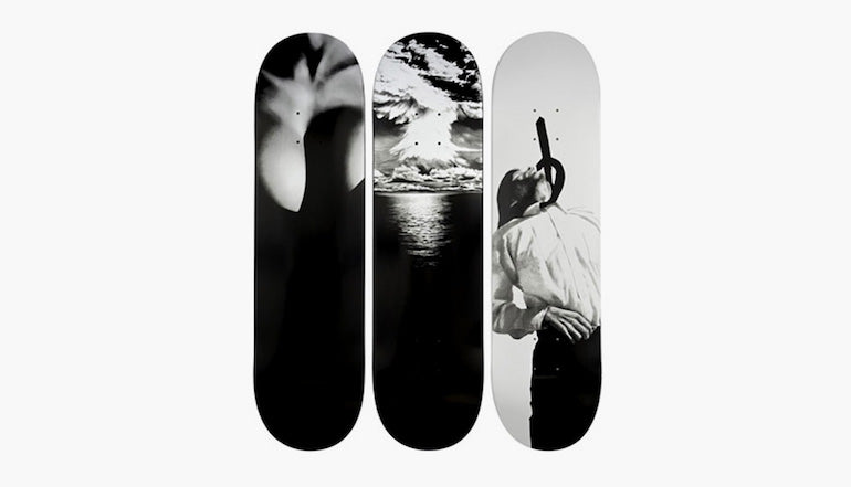 robert longo supreme skate decks