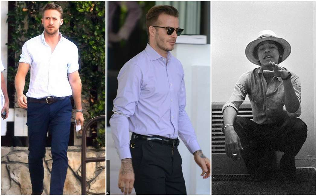 rolled shirt celebrities