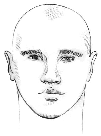 mens round face