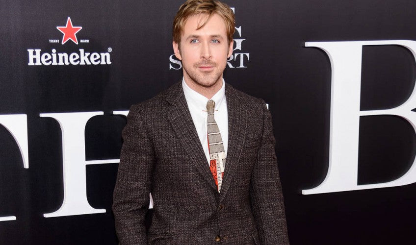 ryan gosling hairstyle suit