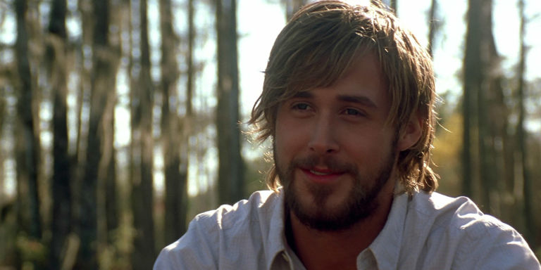 ryan gosling the notebook forest long hair