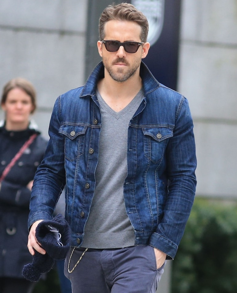 ryan reynolds denim jacket mens