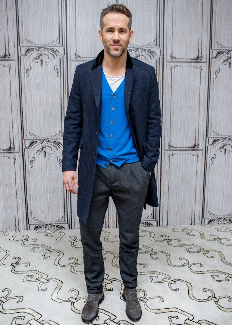 ryan reynolds style trousers mens