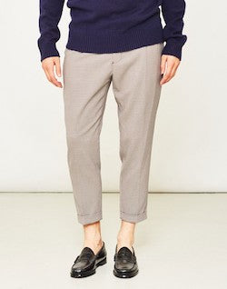 selected grey cropped trousers for men